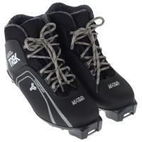 Ботинки лыжные р.36 TREK LeveI4 черный (лого серый) N