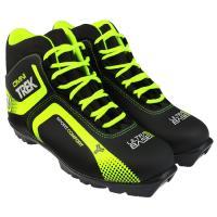 Ботинки лыжные р.37 TREK Leve I1 черный (лого лайм неон) N