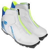 Ботинки лыжные р.35 TREK Olympia2 белый (лого синий) N женские