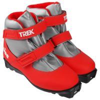 Ботинки лыжные р.35 TREK Kids1 красный (лого белый) N