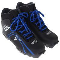 Ботинки лыжные р.36 TREK LeveI3 черный (лого синий) N