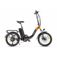 Велогибрид VOLTECO FLEX черно-оранжевый-2196