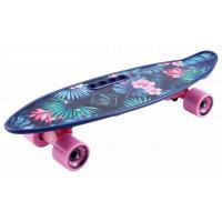 Скейтборд пластик Fishboard 23 print (mini) blue 1/4 TLS-406