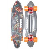 Скейтборд пластик Fishboard 23 print (mini) grey 1/4 TLS-406