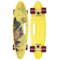 Скейтборд пластик Fishboard 23 print (mini) yellow 1/4 TLS-406