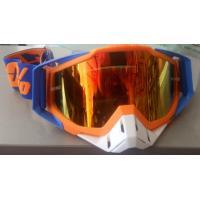 Очки кроссовые HX GOGGLES 100% BLUE ORANGE