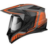Шлем (Мотард) MT SYNCHRONY DUO SPORT TOURER matt platinum black orange XL