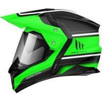 Шлем (Мотард) MT SYNCHRONY DUO SPORT VINTAGE gloss black fluo green L