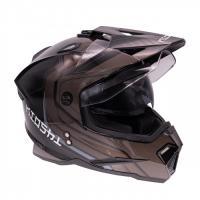 Шлем (мотард) KIOSHI Fighter 802 с очками Черный L