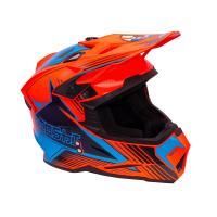 Шлем (Кроссовый) KIOSHI Holeshot 801 оранжевый/синий L