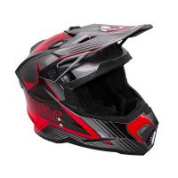Шлем (Кроссовый) KIOSHI Holeshot 801 серый/красный XL