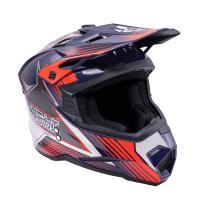 Шлем (Кроссовый) KIOSHI Holeshot 801 сине/серый L