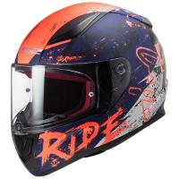 Шлем (интеграл) FF353 RAPID NAUGHTY Matt Blue Fluo Orange S
