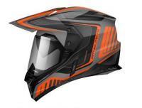 Шлем (Мотард) MT SYNCHRONY DUO SPORT TOURER matt platinum black orange L