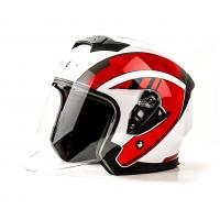 Шлем (открытый) HIZER J222 (M) #1 white/red  2 визора