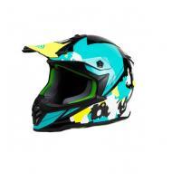 Шлем (кросс) детский XXDD FS-608 L ( Glossy black green)