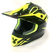 Шлем (кросс)  FS-609 PKQH M ( Glossy black yellow)