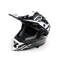 Шлем (кросс)  FS-609 PKQH M ( Glossy black White)