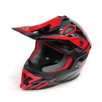 Шлем (кросс)  FS-609 PKQH M ( Glossy black red)