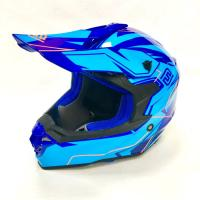 Шлем (кросс)  FS-607 SDH XL ( Glossy blue Light blue)