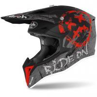 Шлем (кроссовый) Airoh Wraap Smile Red Matt ( XL )