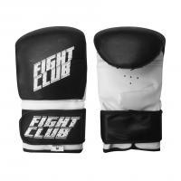 Перчатки снарядные FIGHT CLUB (ПВХ, р.M, Белый/черный)