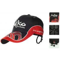 Бейсболка мембранная дышащая со страховочной клипсой от ветра (черный с красным)