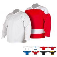 Свитер тренировочный хоккейный 4031 (48, красный/бел)