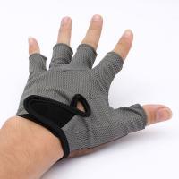 Перчатки б/пальцев т/атлетика (кожа+трикотаж)
