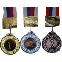 Медаль 1, 2, 3 место большая 65мм (3шт/уп)