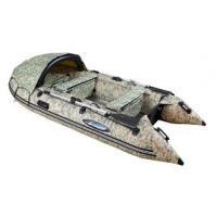 Надувная лодка GLADIATOR C400 DP светло-темносерый