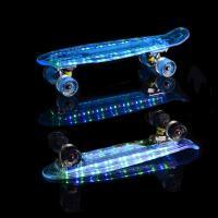 Скейтборд пластиковый Transparent light 22 TLS-403