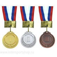 Медаль 1, 2, 3 место большая 6см (3шт/уп) римские цифры