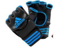 Перчатки для смешанных единоборств Traditional Grappling черно-синие (р-р M)