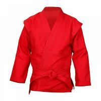 К5Х44/160, Куртка для САМБО (цвет красный) РЭЙ-СПОРТ