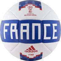 Мяч футб. ADIDAS WC2018 Capitano FFF р.5 бело-сине-красный