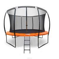 Батут DFC KENGOO 10 футов (305см) внутри сетка, лестница, оранж/черн.
