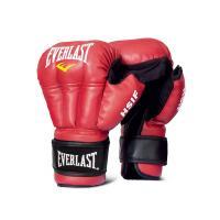 Перчатки для Рук. боя HSIF Leather 12oz красн.