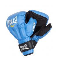 Перчатки для Рук. боя HSIF Leather 8oz син.