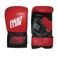 Перчатки снарядные FIGHT CLUB (кожа, р.L, Красный/черный)