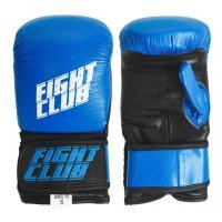 Перчатки снарядные FIGHT CLUB (кожа, р.XL, Синий/черный)