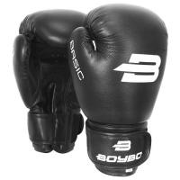 Перчатки бокс. BoyBo Basic к/з 10 oz черные