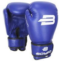 Перчатки бокс. BoyBo Basic к/з 14 oz синие