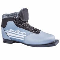 Ботинки лыжные р.38 TREK SkiingIK2 металлик (лого серебро) 75