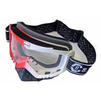 Очки мотоциклетные (белый-красный), YH25-48