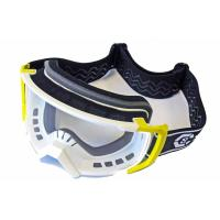 Очки мотоциклетные (желто-белый), YH-157