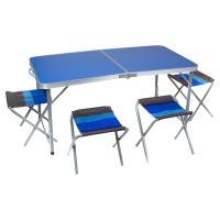 Комплект мебели ZAGOROD B 103 (4 стула + стол складной) синий