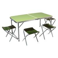 Комплект мебели ZAGOROD B 103 (4 стула + стол складной) зеленый