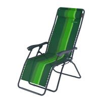 Шезлонг инерционный ZAGOROD K 101 зеленый